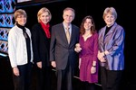 Betty Wallace, Patricia Gruber, Douglas Wallace, Mary Gehring, Mary Claire King