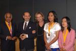 Param Cumaraswamy, Peter Gruber, Patricia Gruber, Thin Thin Aung, Nang Hseng Moon
